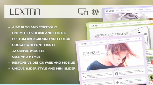 Lextra – Clear Style WordPress Theme