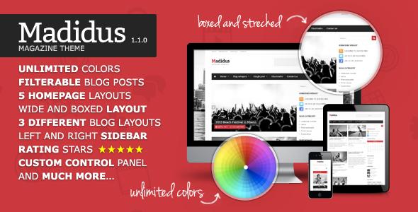 Madidus – Blog & Magazine Theme