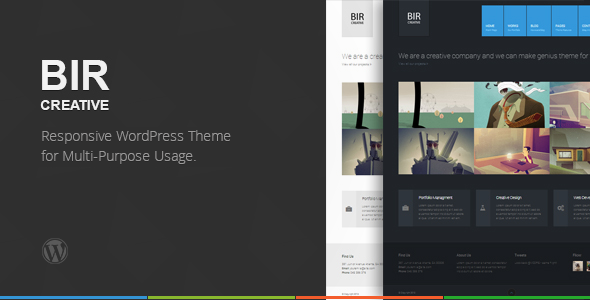 BIR – Responsive Creative WordPress Theme