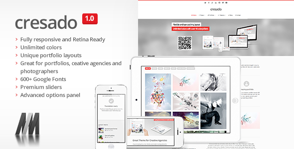 Cresado WP – Responsive Theme for Creatives