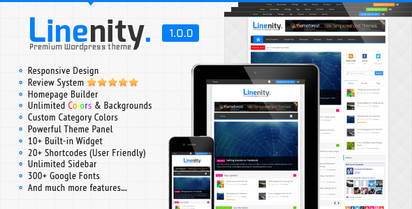 Linenity – Clean Responsive WordPress Magazine