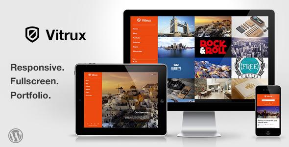 Vitrux – Responsive Fullscreen Portfolio WP Theme
