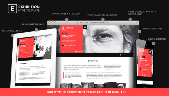 Exhibition WP – Photography/Art Landing page