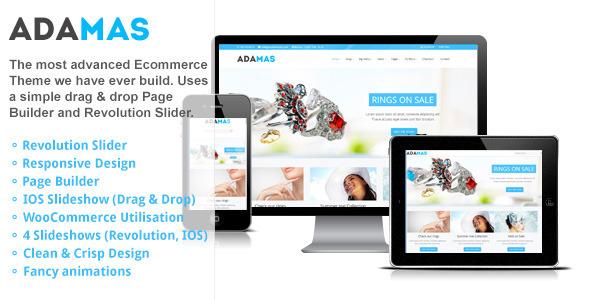 Adamas – Responsive Ecommerce WordPress Theme
