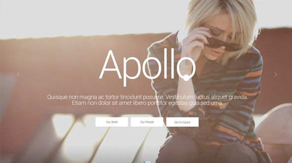 Apollo, A Feature-Rich Showcase Template w/ Built-in Newsletter
