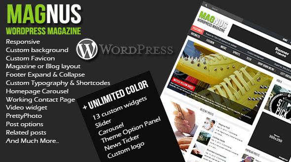 Magnus Responsive WordPressTheme