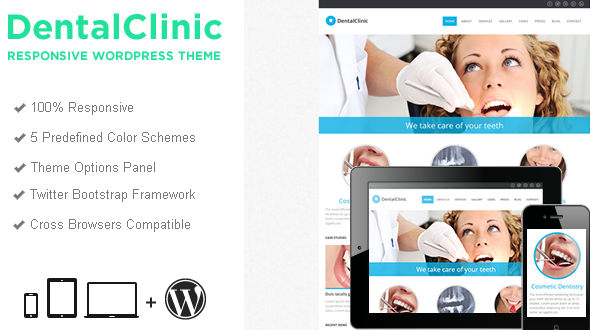 DentalClinic Responsive WordPress Theme
