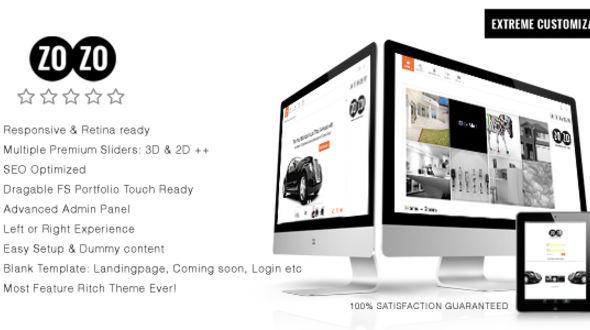 ZOZO, Responsive Multi-Business WordPress Theme