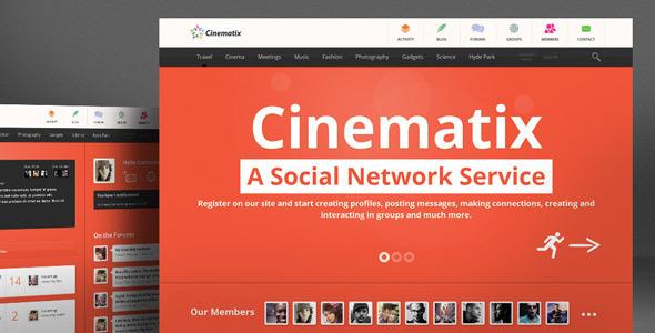 Cinematix – BuddyPress Theme