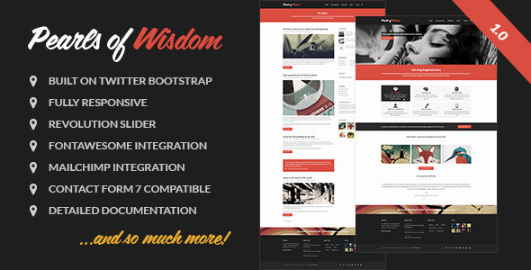 Pearls of Wisdom responsive theme
