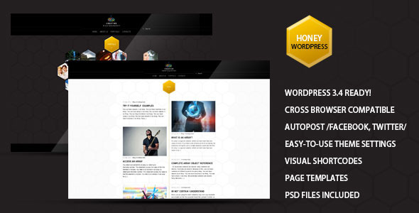 Honey – Creative Portfolio, Photography Theme