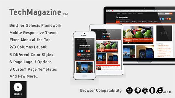 TechMagazine – Mobile Responsive Genesis Child Theme