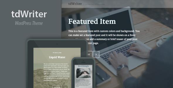 tdWriter – Responsive WordPress Theme