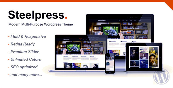 Steelpress – Modern Multi-Purpose WordPress Theme