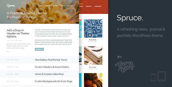 Spruce | A Refreshing Journal & Portfolio Theme