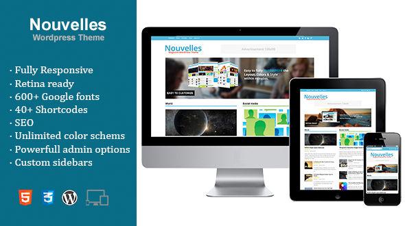 Nouvelles is a Retina Ready Responsive WordPress Theme