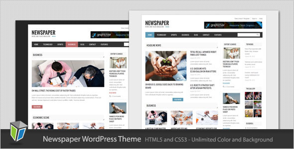 Newspaper – Blog and Magazine WordPress Theme