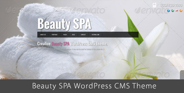 Beauty SPA – Ajaxified WordPress CMS Theme