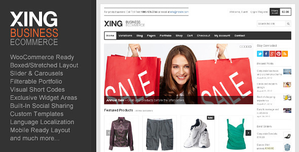 Xing – Business / ecommerce WordPress Theme