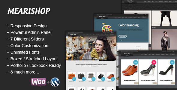 Mearishop – a Clean Responsive E-commerce Theme