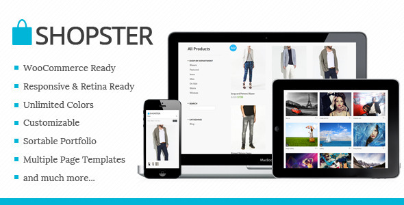 Shopster – Retina Responsive WooCommerce Theme