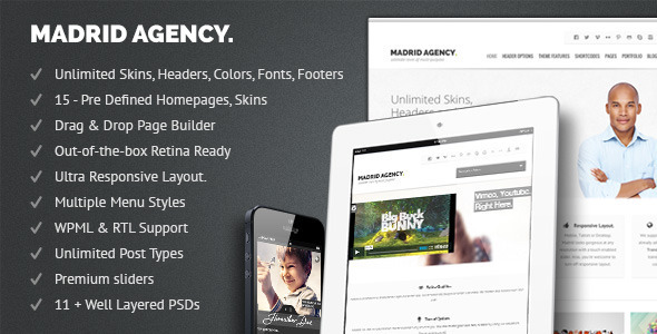 Madrid Retina Multi-Purpose WordPress Theme