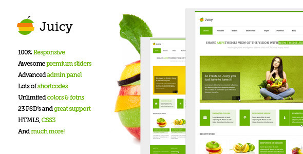 Juicy – Responsive Multi-Purpose WordPress Theme