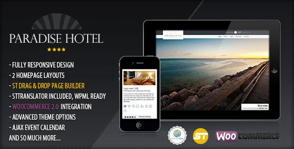 Paradise Hotel – Responsive WordPress Hotel Theme