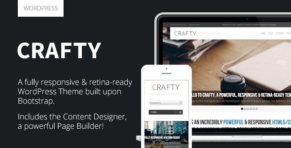 Crafty – Responsive Retina-ready WordPress Theme