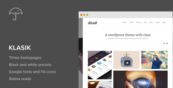 Klasik – Retina Responsive WordPress Theme