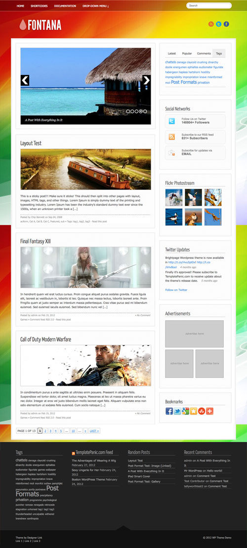 Fontana WordPress Theme