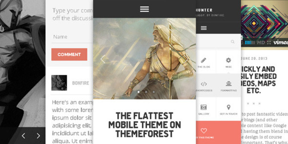 HUNTER – A flat & classy WP theme, by Bonfire