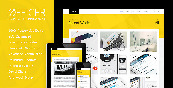 Øfficer – Responsive WordPress Theme