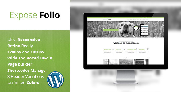 Expose Folio – Multipurpose WordPress Theme
