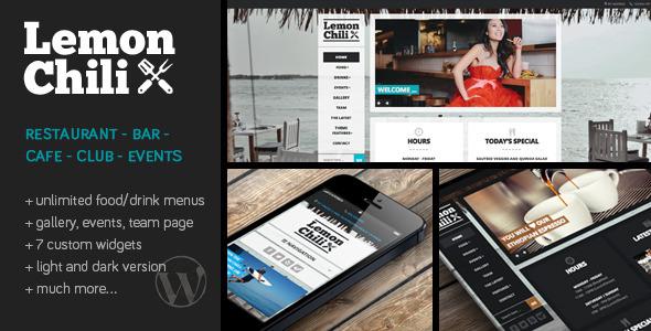 LemonChili – a Premium Restaurant WordPress Theme