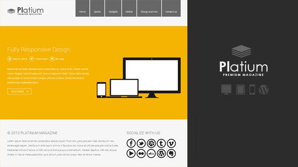 Platinum Responsive Magazine Theme
