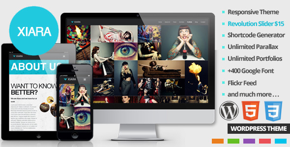 Xiara – Responsive WordPress One Page Parallax