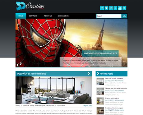 3DCreation  WordPress Theme Free Download