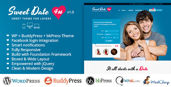 Sweet Date – Premium WordPress Theme for Lovers