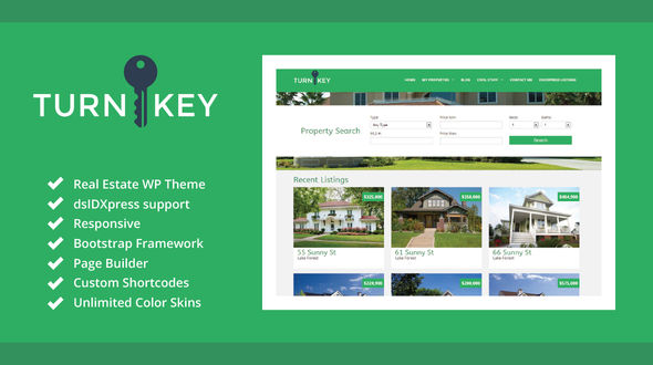 TurnKey – A Simple Real Estate Theme for WordPress