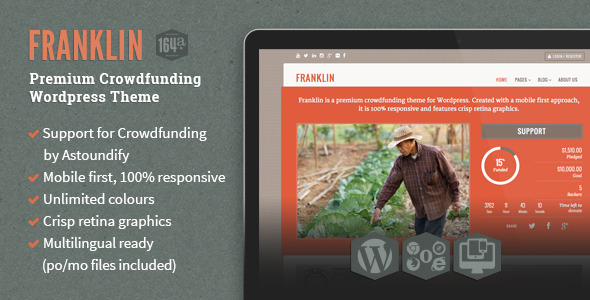 Franklin WordPress Crowdfunding Theme