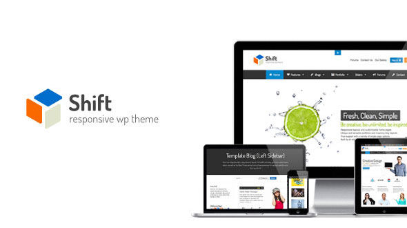 Shift – Responsive WordPress Theme