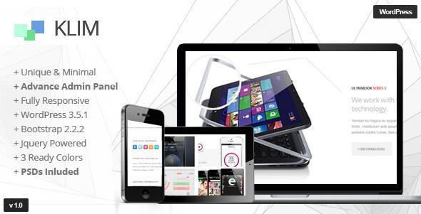 Klim – Responsive WordPress OnePage Theme