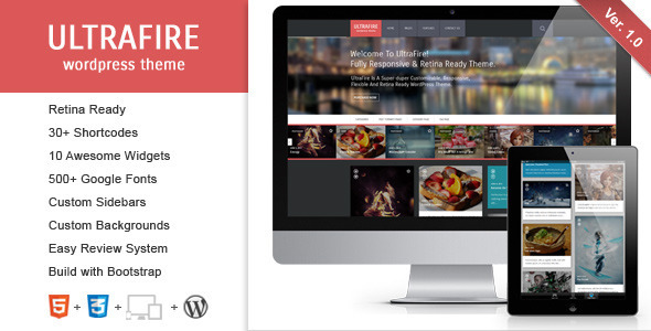 UltraFire – Retina Responsive WordPress Blog Theme