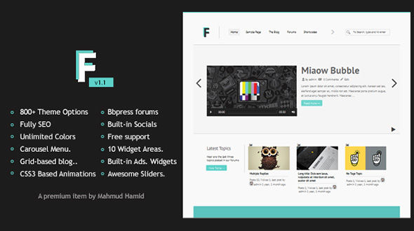 Frozr – Multipurpose Ultra Customizable Minimal WordPress Theme With BBpress