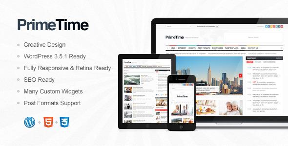 PrimeTime – Clean, Responsive WP Magazine