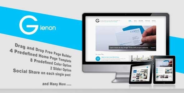Glenon – Portfolio & Business WordPress Theme