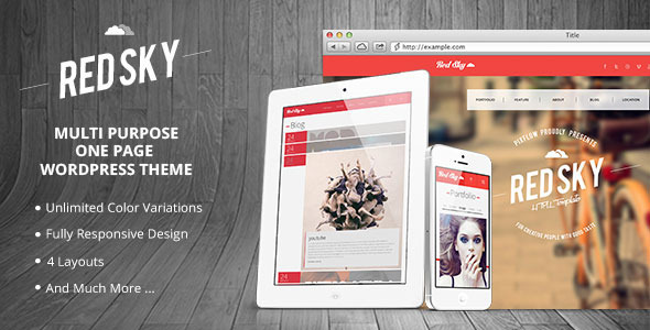Red Sky – One Page Multi-Purpose Theme