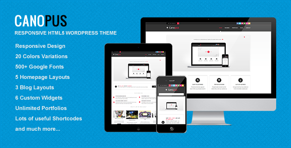 Canopus – Responsive HTML5 WordPress Template