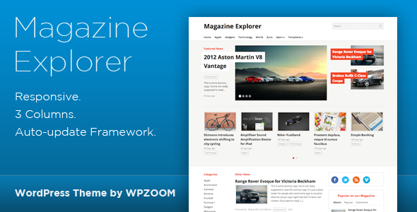 Magazine Explorer – WordPress Theme
